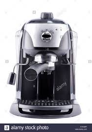 modern coffee machine on white background stock photo royalty