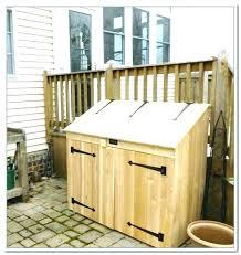 trash bin storage garbage can shed outdoor living today trash can outdoor trash can storage outdoor trash can storage bin outdoor