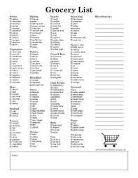 Big List Of Printable Grocery Shopping Lists | Home Ideas ...