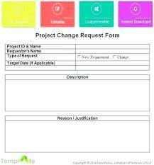 Software Request Form Interesting Change Request Template Project Management Docs Process Form Ertk