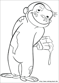 curious george coloring pages printable s monkey free art get this colouring