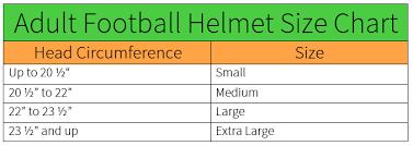 American Football Helmet Size Chart Vast