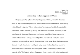 commentary on turning point in othello gcse english marked by  document image preview