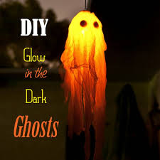 diy scary decorations love these glow in the dark ghosts