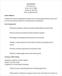 Resume For Medical Receptionist 11 Front Desk Medical Receptionist Resume