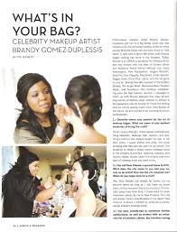 here is the article from what s in your bag i hope you enjoy thanks otylia finley for spotlighting me and thanks beebe tran for the beautiful pictures
