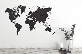 world map wall decal wall stickers
