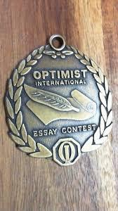Optimist Essay Contest Optimist International Essay Contest Medal Literary Writing