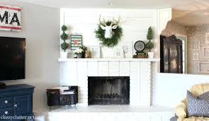 white brick fireplace redo 1 white brick fireplace mantel ideas