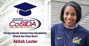 CoSIDA Postgraduate Scholarship Recipients – Where Are They Now? Akilah  Laster - CoSIDA