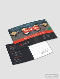 Announcement Postcards Free New Business Announcement Postcard Template Download 87