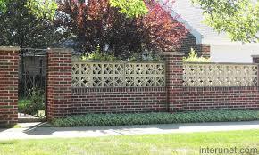 brick fences.  Brick Stylishbrickfencewithgates Intended Brick Fences S