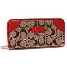 Best Style Coach Legacy Logo Signature Large Red Wallets Cki Outlet IRrIK