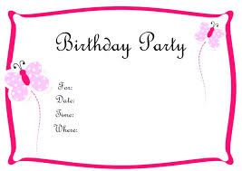Kids Birthday Party Cards Best Kids Birthday Party Invitation
