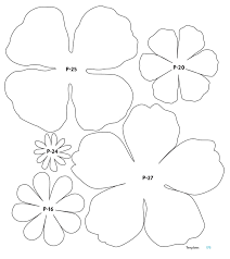 Flower Templates For Paper Flowers Templates