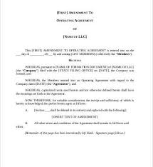 template for llc operating agreement operating agreement amendment template llc operating agreement