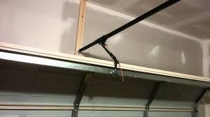 how not to install a garage door opener