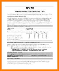 cancellation policy template gym cancellation letter form