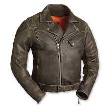 men s the 60 s new yorker distressed brown leather jacket