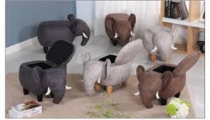 small ottoman stool. 2018 New Product Cute Animal Stool Elephant Ottoman Small Storage Living Room Chair Children Furniture E