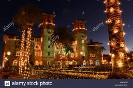 St Augustine Lights Hours Holiday Lights In St Augustine Stock Photos Holiday Lights