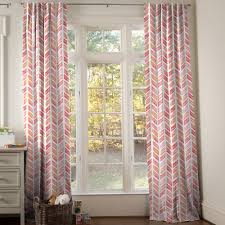 Coral Patterned Curtains Interesting Design Inspiration