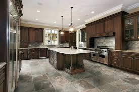 white kitchen dark tile floors. Countertops \u0026 Backsplash Slate Tile Flooring Pictures Kitchen Versus Wood Floors In Dark White