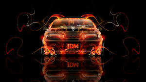 toyota soarer jdm back fire abstract car