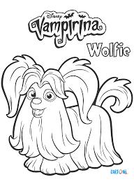 Vampirina Personaggio Wolfie Da Colorare Cartoni Animati
