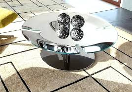 round chrome coffee table modern bond with a base thumbnail glass set