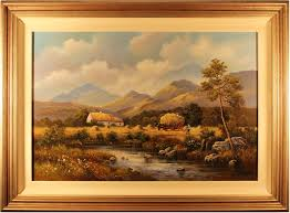Wendy Reeves   Original oil painting on canvas, Country Scene, Art to buy  online (Ref:WDR219)
