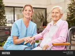 Geriatric Nursing Caring Geriatric Nurse Image Photo Free Trial Bigstock