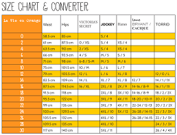la size fit guide la vie en orange