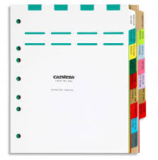 Carstens Charts Heavy Duty Plastic Dialysis Divider Sets Side Opening