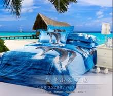 Dolphin quilt online shopping-the world largest dolphin quilt ... & Blue ocean dolphin bedding set queen size bed in a bag sheets duvet quilt  cover bedspread Adamdwight.com