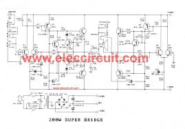 200w guitar amplifier circuit diagram pcb layout bass guitar super bridge amplifier 200 watt