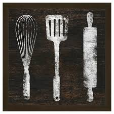 Image Watercolor Target Kitchen Tools 18x18 Wall Art