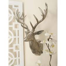 aluminium deer head wall decor in polished