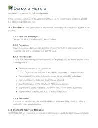 Business Service Contract Template Yearly Level Agreement