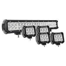 Spot Or Flood Led Light Bar Nilight 20inch 126w Spot Flood Combo Led Light Bar 4pcs 4inch 18w Spot Led Pods Fog Lights For Jeep Wrangler Boat Truck Tractor Trailer Off Road 2