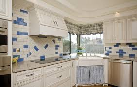 blue accent tile back splash kitchen scottsdale arizona home house for photo