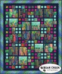 Skyline Sensation Kit   Quilting   Pinterest   Panel quilts ... & This x quilt pattern by Hoffman Fabrics combines the digitally printed  Skylines collection with Batik Watercolors for a stunning modern look. Adamdwight.com