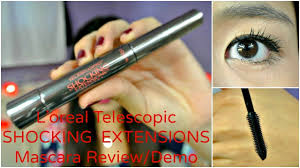 mmm new l oreal telescopic shocking extensions mascara review demo you
