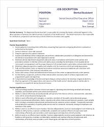Sample Dental Assistant Job Description 8 Examples In Pdf Word
