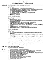 Retail Coordinator Resume Samples Velvet Jobs