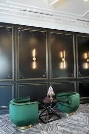 black wall panels