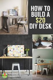 need a desk for your workspace learn how to build a desk for 20