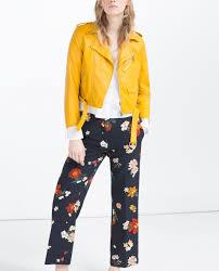 1 angela simmons s instagram zara yellow faux leather jacket