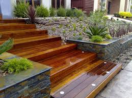 yard design ideas using landscape timbers