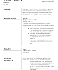 download resume format template - Resume Format Template